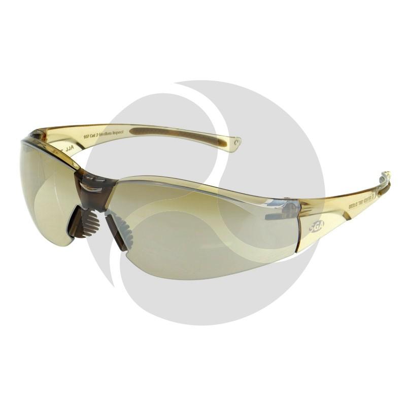 SGA ALL TERRAIN Safety Glasses Brown Mirror HC Lens