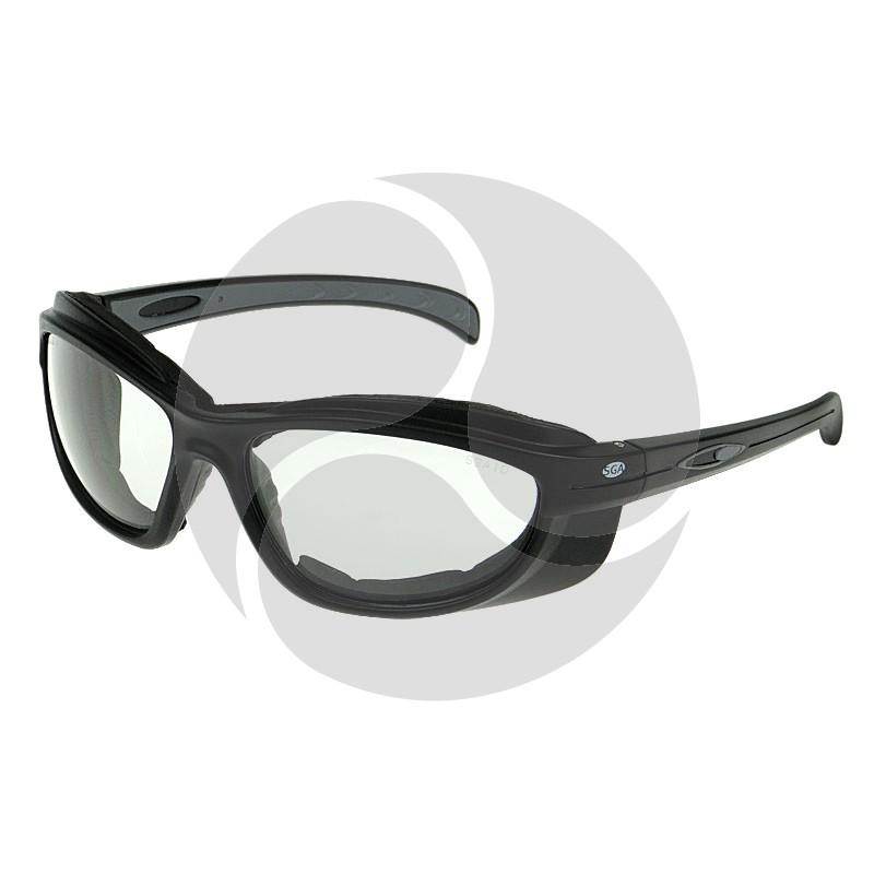 On Site Safety GUNBLADE Safety Positive Seal Glasses Black Frame Clear Antifog HC Lens