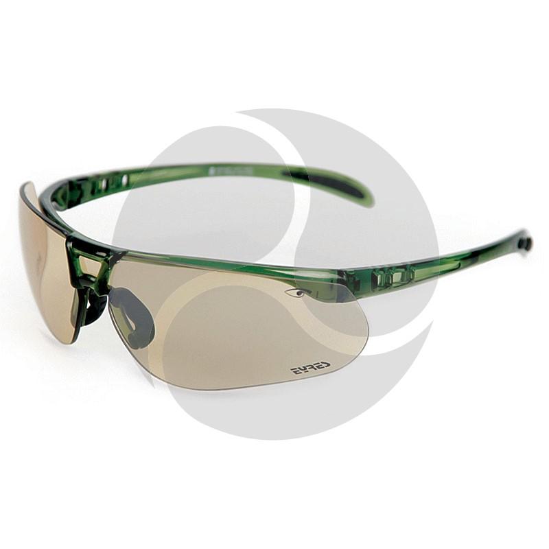 Eyres Safety Optics INSULATOR Green Frame w/ Brown Smoke Lens