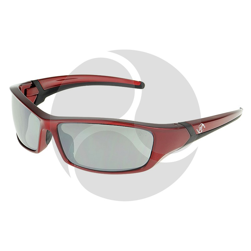 BANDIT OUTLAW Safety Glasses Red Frame Silver Mirror HC Lens