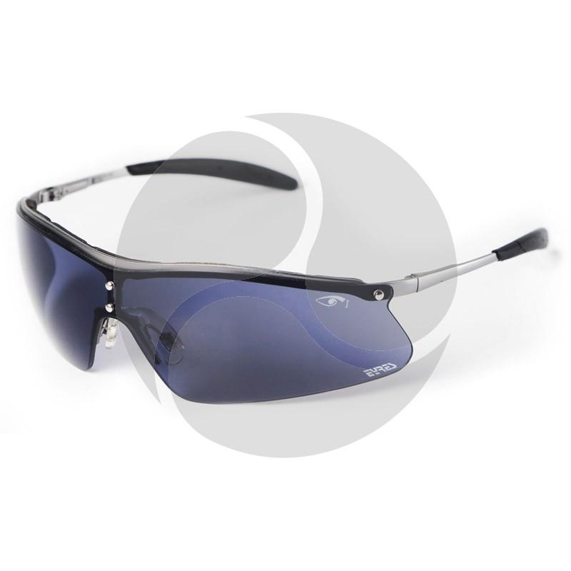 Eyres Safety Optics SHIELD Metal Frame w/ Blue Smoke Lens