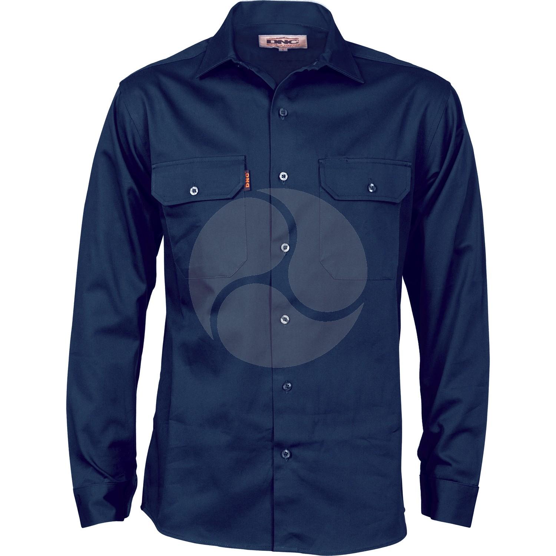 Cotton Drill Work Shirt - Long Sleeve