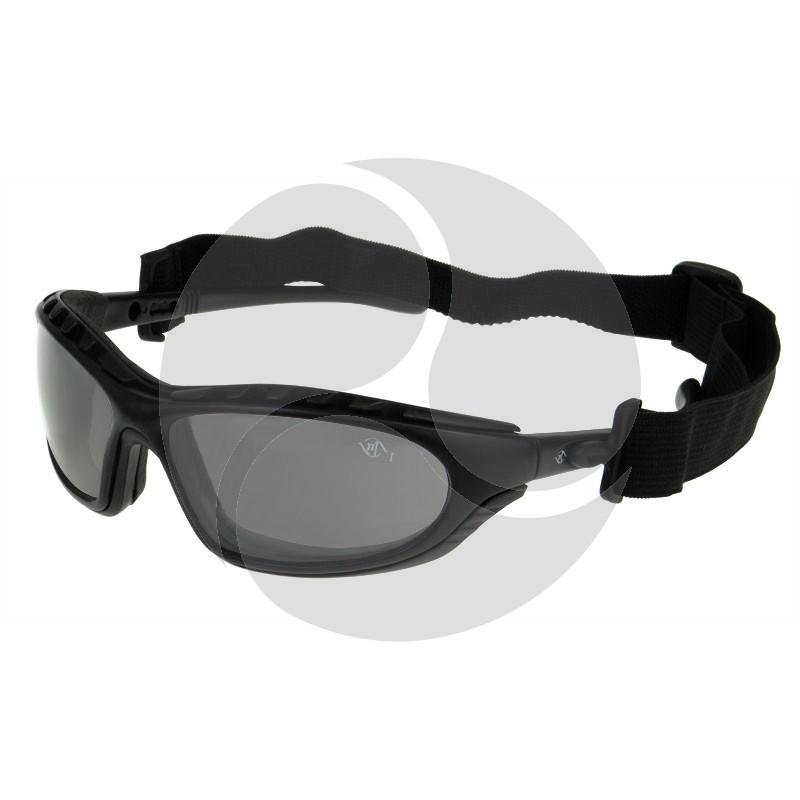 Bandit GULF Safety Positive Seal Glasses Black Frame Smoke Antifog HC Lens
