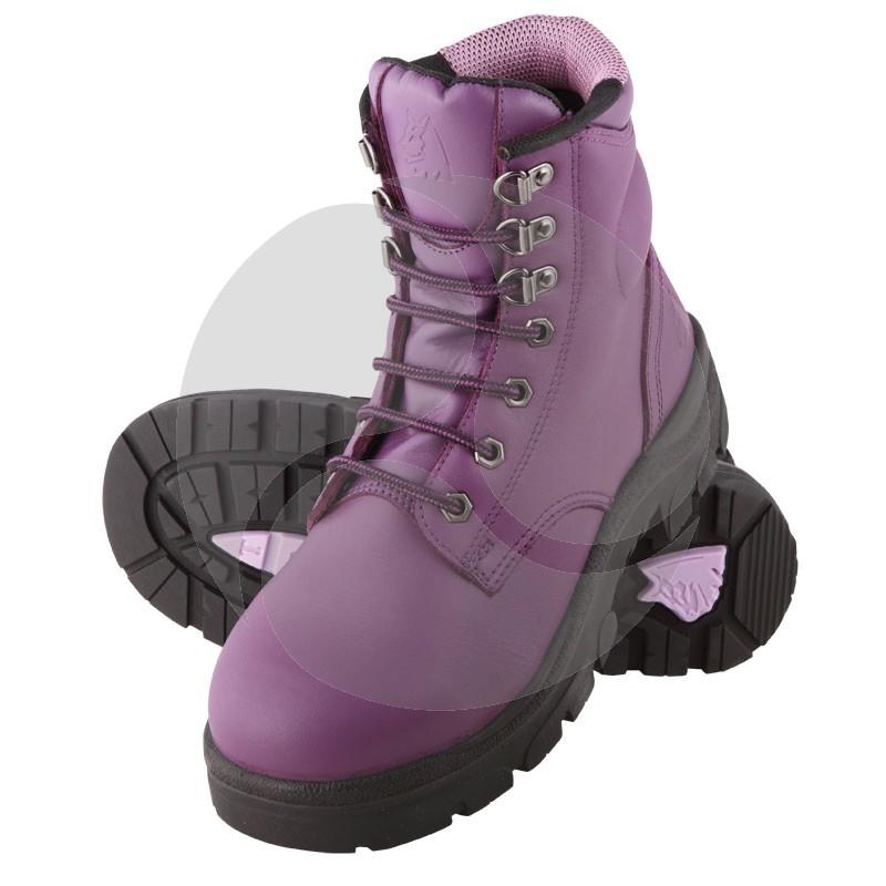 SteelBlue Work Boots - ARGYLE Ladies Lace Up - Purple