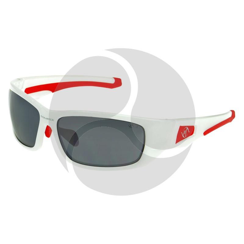 BANDIT MAVERICK Safety Glasses White Frame Silver Mirror HC Lens