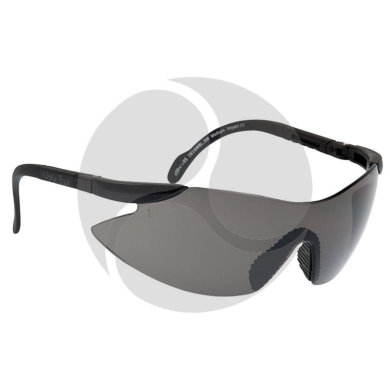 Ugly Fish Safety Eye Wear Arrow Black Frame w/ Smoke Grey Lens