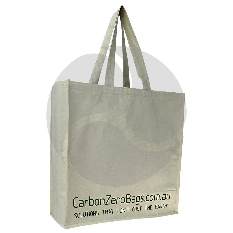 Carbon Zero Bags Printed Calico Bag 10oz with Web Handle - 50x50x20cm