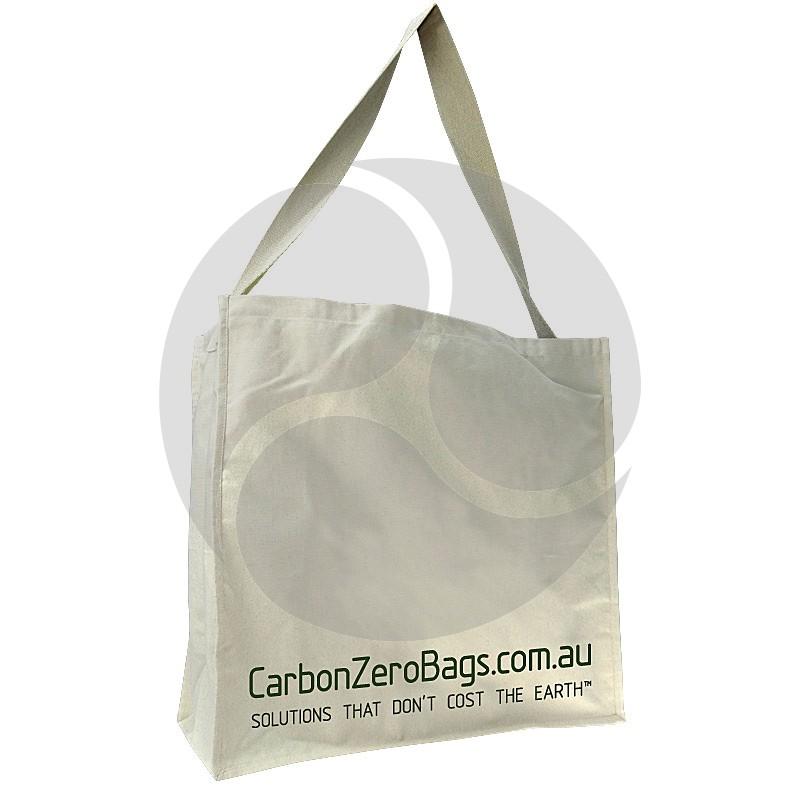 Carbon Zero Bags Printed Calico Bag 10oz with Single Web Handle - 50x50x20cm