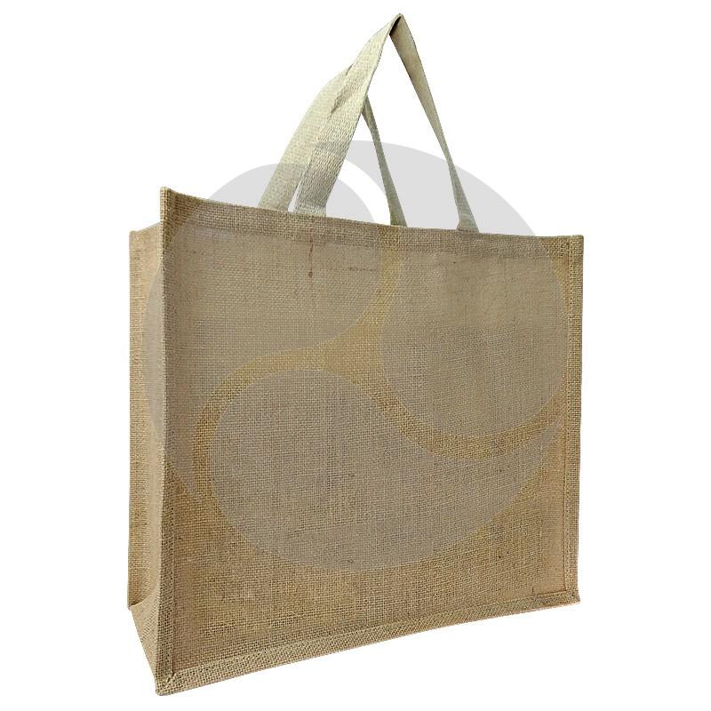 Carbon Zero Bags Jute Bag with Web Handle - 36x40x18cm