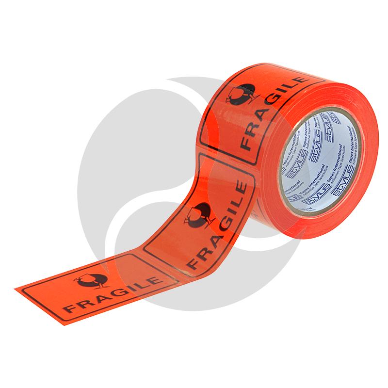 Stlyus Tapes Label Rolls - FRAGILE 75mm x 50m