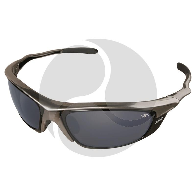 Scope Rogue II Safety Glasses Chrome Frame Blue Mirror AF/HC Lens