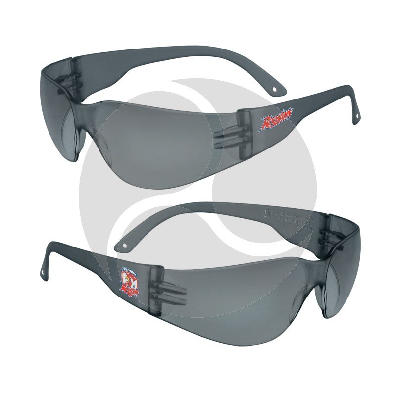 Work n Play NRL ECHO Smoke HC Lens Safety Glasses - Sydney Roosters