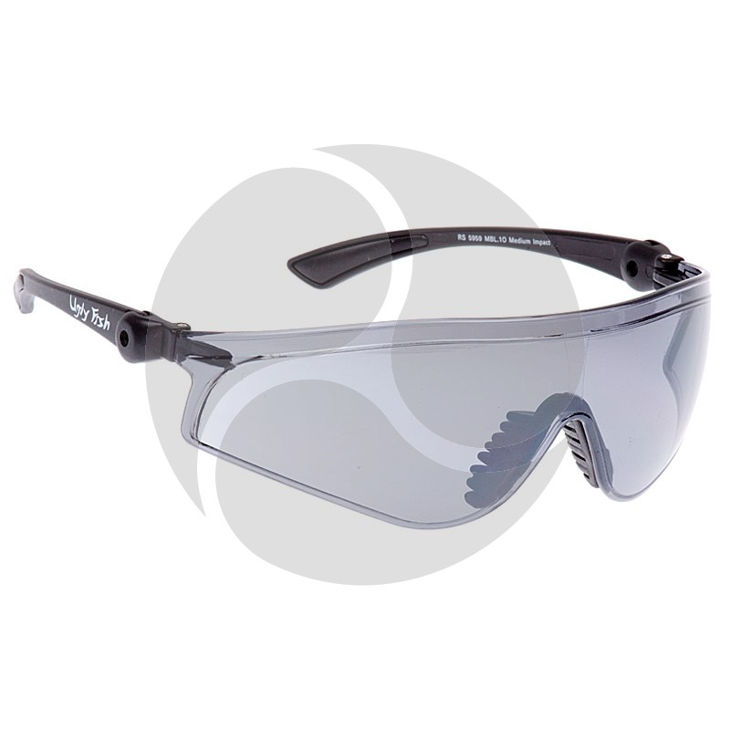 Ugly Fish Safety Eye Wear Flare Black Frame w/ Indoor / Outdoor Grey Lens