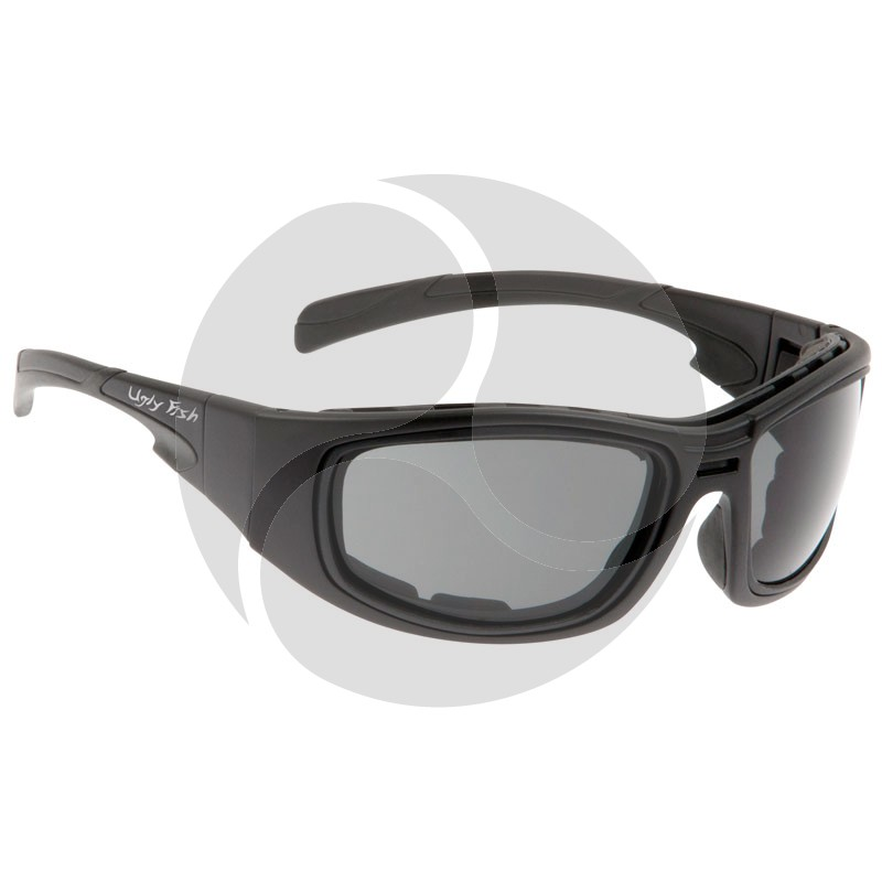 Ugly Fish Safety Eye Wear Grenade Black Frame w/ Smoke Grey Lens