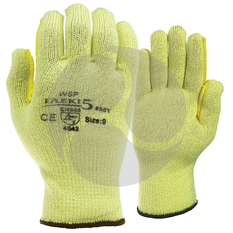 TAEKI 5 HEAT & CUT RESISTANT UNCOATED YELLOW Glove