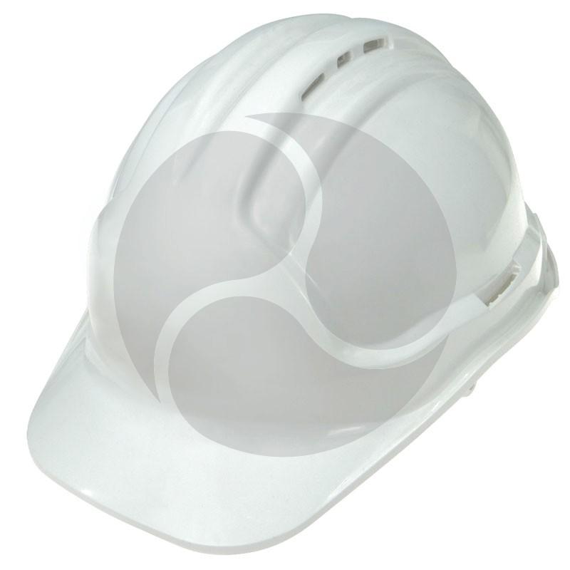 Super Safety 6 pt Hard Hat - White - Vented