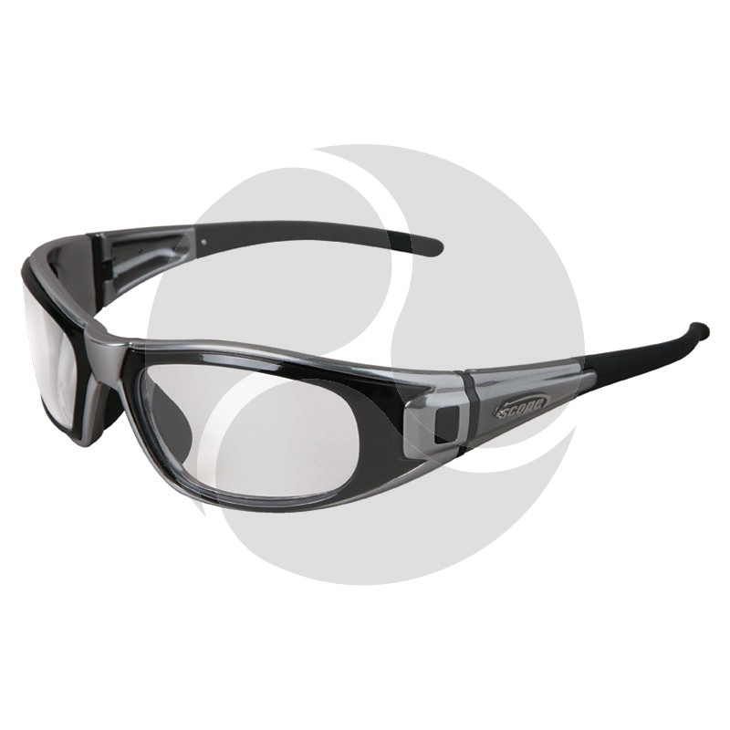 Scope Matrix Safety Glasses Chrome Frame Includes both Clear and Smoke AF/HC Lens