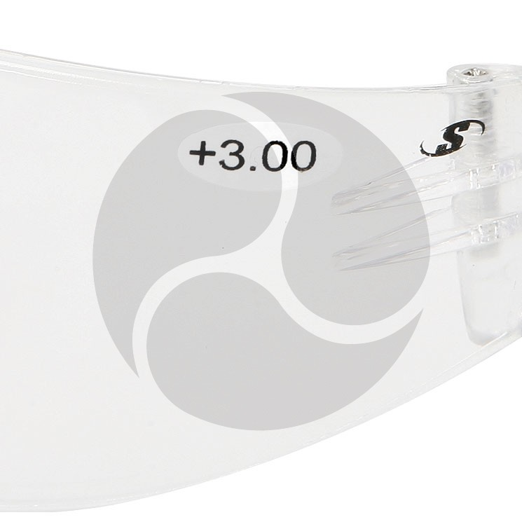 Scope Maxvue Safety Glasses Clear +3.0 AF/HC Lens