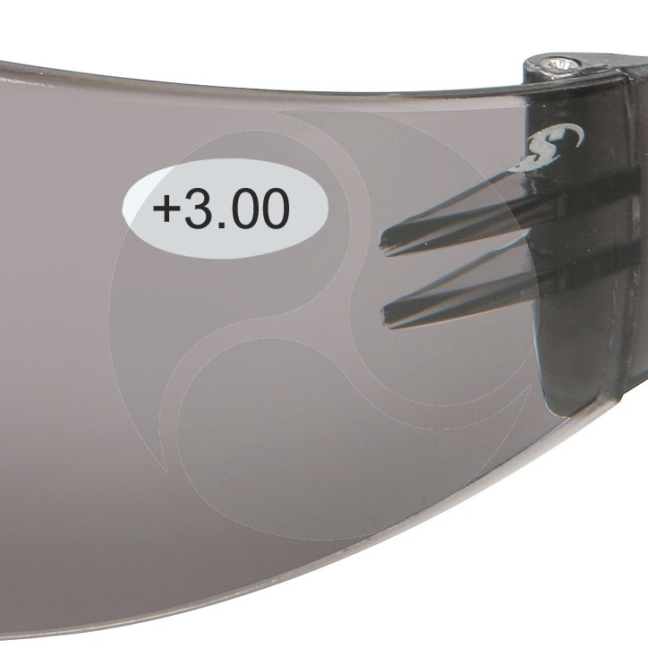 Scope Maxvue Safety Glasses - Smoke +3.0 AF/HC Lens