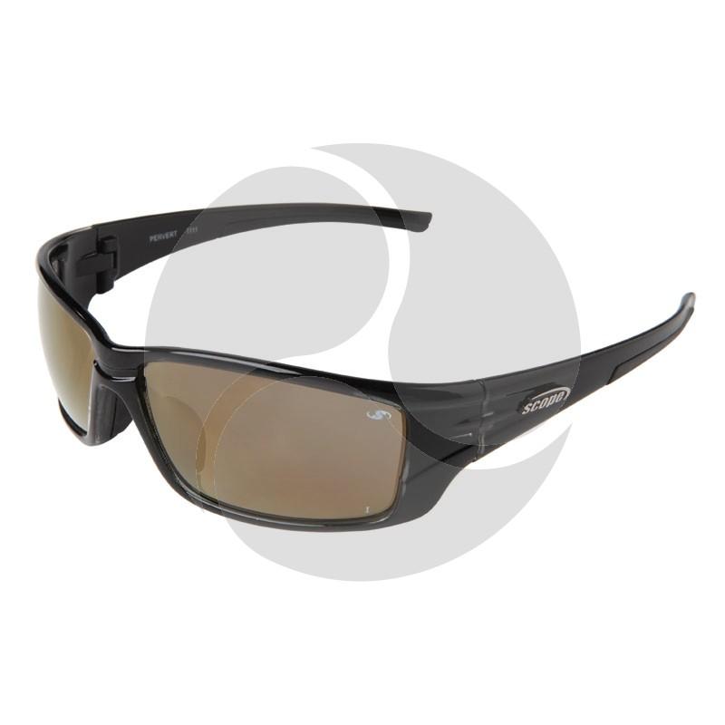 Scope Pervert Safety Sunglasses Crystal Black Frame - Gold AF/HC Lens