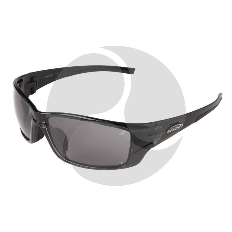 Scope Pervert Safety Sunglasses Crystal Black Frame Smoke AF/HC Lens