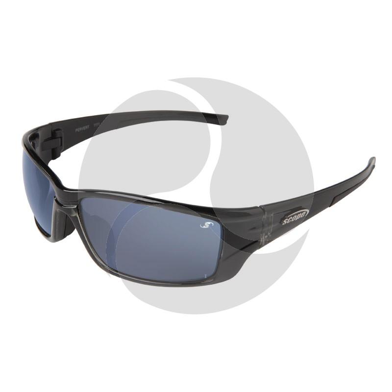 Scope Pervert Safety Sunglasses w/ Black Frame and Blue Lens