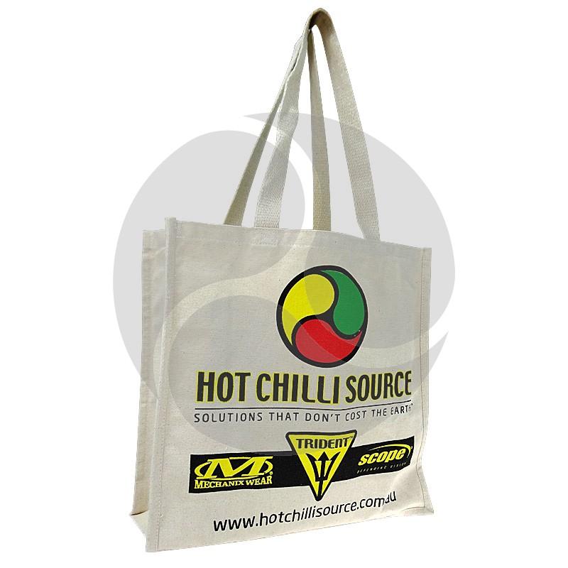 Carbon Zero Bags Hot Chilli Source Print Calico Bag 10oz - 37x37.5x14cm