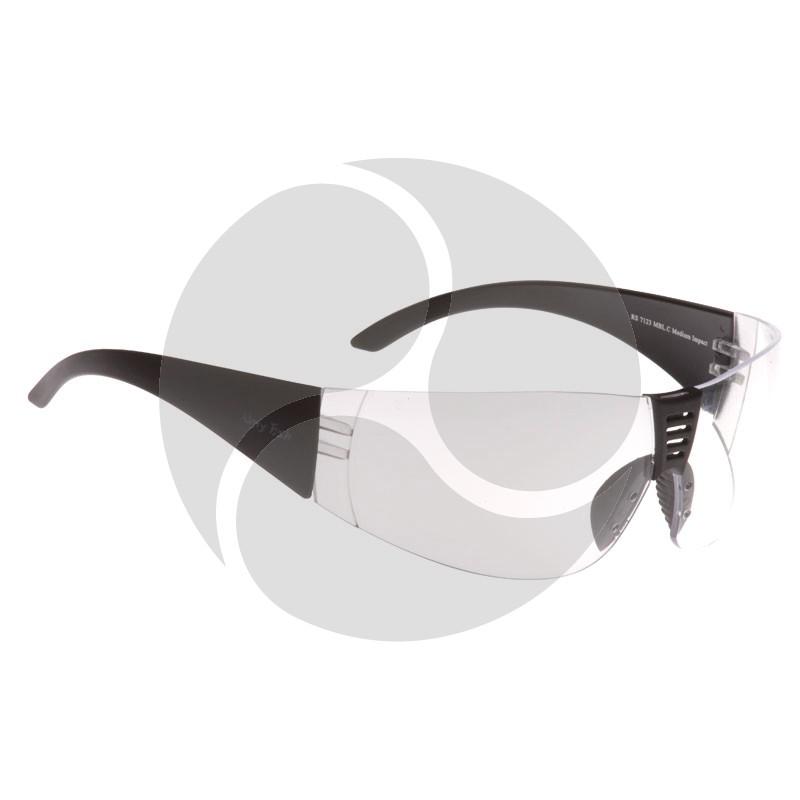Ugly Fish Safety Eye Wear Radar Black Frame w/ Clear Lens