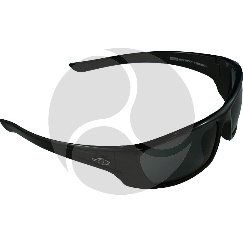 MSA INSTINCT I-WEAR-Z4 Premium Black Frame - Smoke Lens