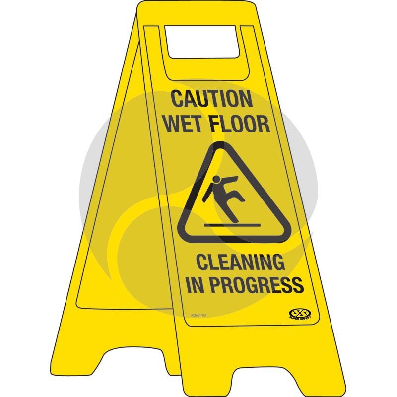 "A-Frame Sign ""Caution Wet Floor"""