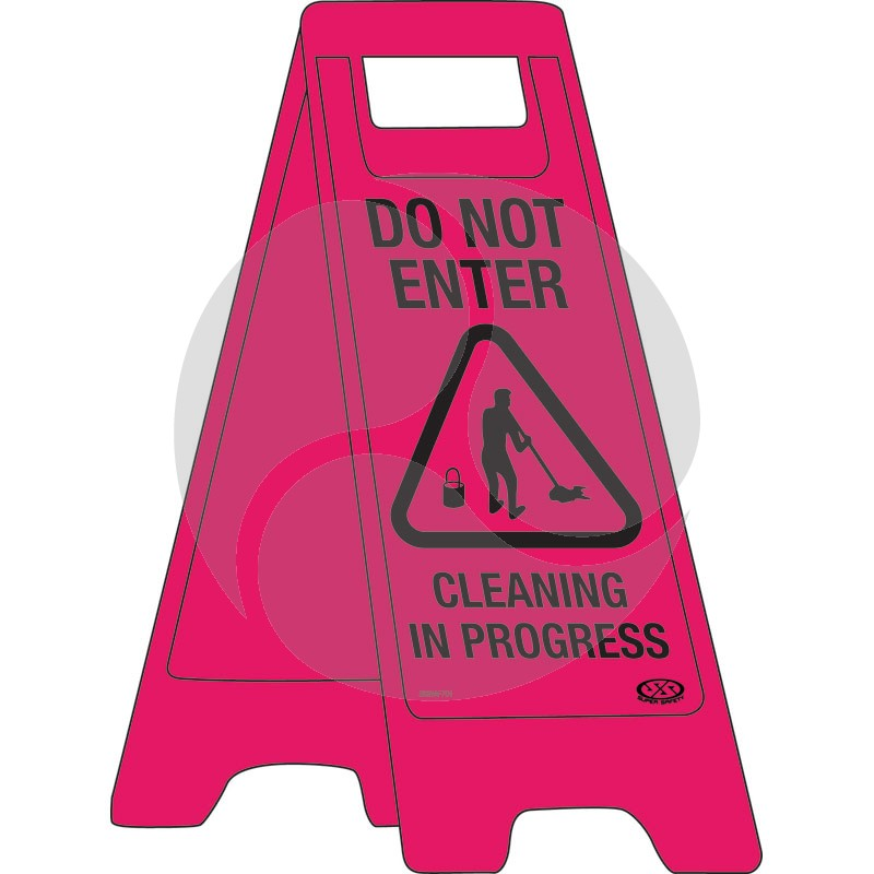 """A-Frame Sign """"Do Not Enter Cleaning in Progress"""""""