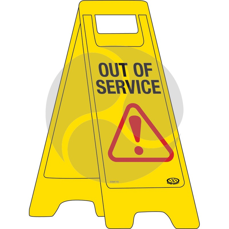 "A-Frame Sign ""Out of Service"""