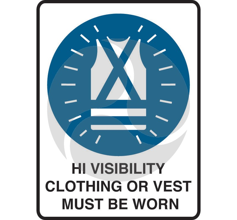 Mandatory Safety Sign - High Visibility Clothing Must Be Worn