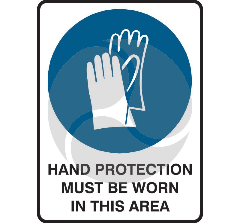 Mandatory Safety Sign - Hand Protection Must Be Worn