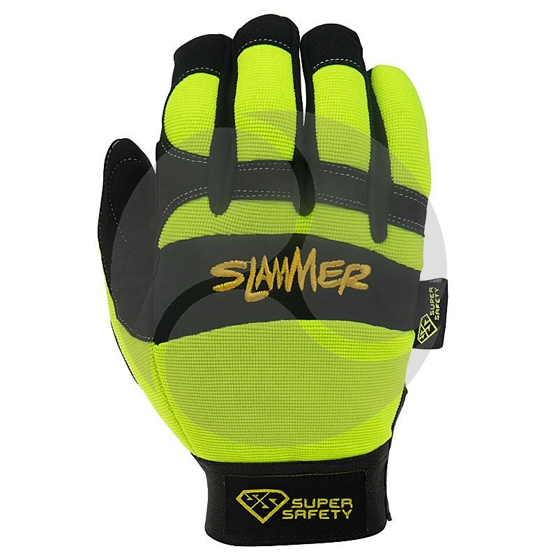 Super Safety SLAMMER Glove - Hi-Viz Yellow