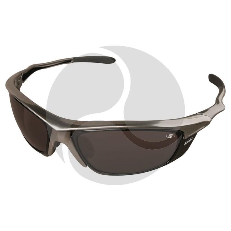Scope Rogue II Safety Glasses Chrome Frame Smoke AF/HC Lens