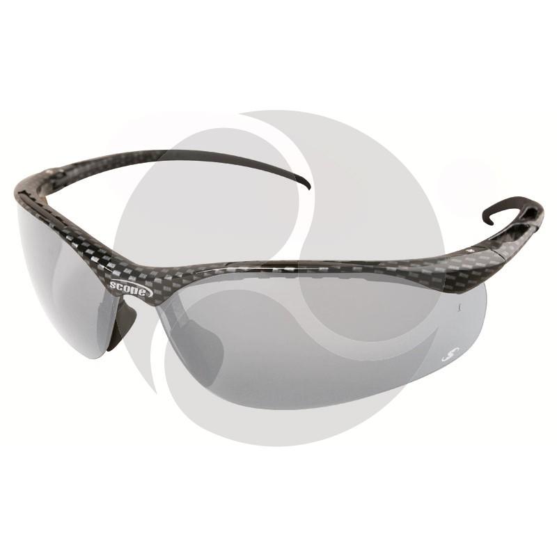 Scope Sniper Safety Glasses Carbon Fibre Frame Clear AF/HC Lens