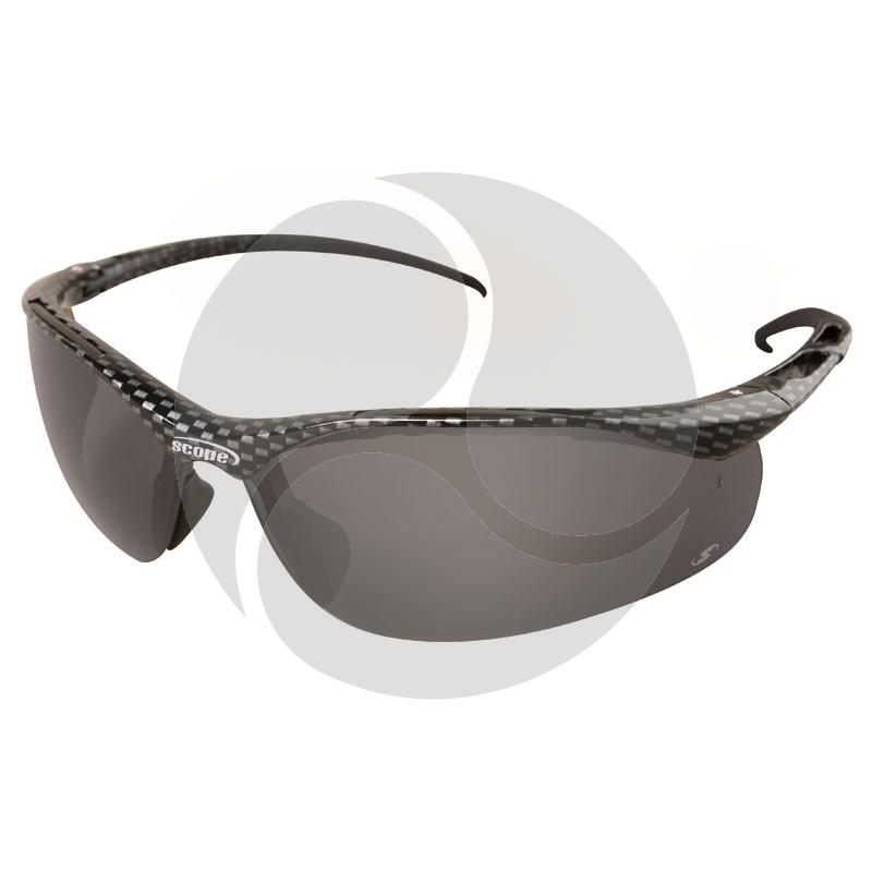 Scope Sniper Safety Glasses Carbon Fiber Frame Smoke AF/HC Lens