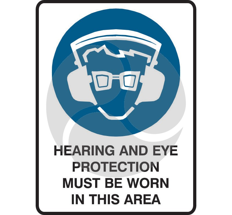 Super Safety Sticker - Hearing & Eye Protection