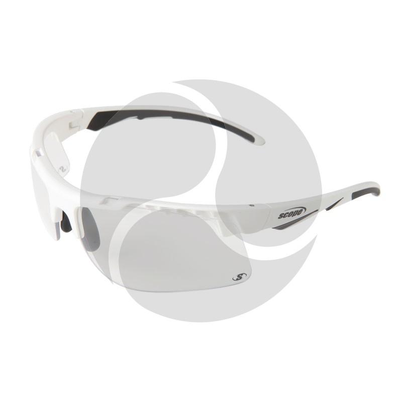 Scope Striker Safety Glasses White Frame Clear Anti Fog Hard Coat Lens