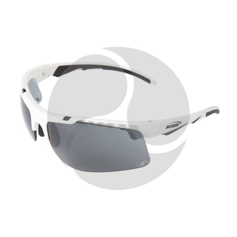 Scope Striker Safety Glasses w/ White Frame and Smoke Lens