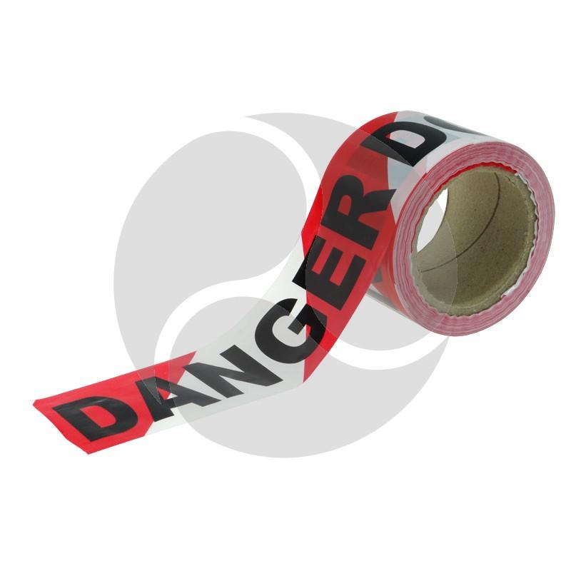 "Tapeman R/W ""Danger - Do Not Enter"" Economy Hazard Tape - 72mmx100m"