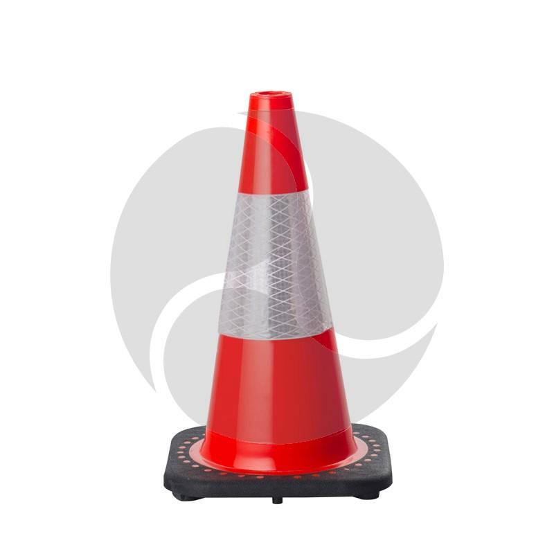 Traffic Cone 450mm - Orange + Reflexite Reflective Collar