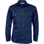 Cotton Drill Work Shirt - Long Sleeve