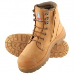 Steel Blue Work Boots - ARGYLE ZIP w/ Nitrile Bump - Wheat
