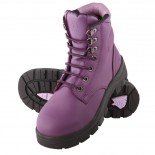 SteelBlue Work Boots - ARGYLE Ladies Lace Up - Purple