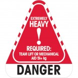 Sticker Danger Extremely Heavy 51kg + 250 / Roll