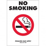 Prohibition Safety Sign - (VIC) No Smoking Penalties May Apply