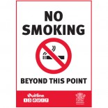 Prohibition Safety Sign - (QLD) No Smoking Beyond This Point