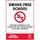 Prohibition Safety Sign - (QLD) Smoke-Free School Smoking Is Banned At This School And For 5 Metres Beyond The School Boundary